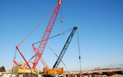 SANY Crawler Cranes Used in Ambitious Niagara Tunnel Project