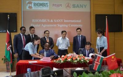 SANY signs its Kenyan dealer for a broader market
